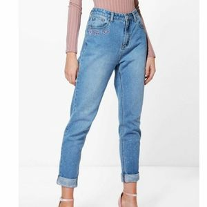 Boohoo Mom Not Sorry Baggy Jeans